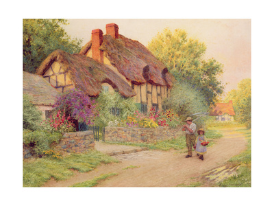 After the Shower: Man with a Scythe Giclee Print by Arthur Claude Strachan