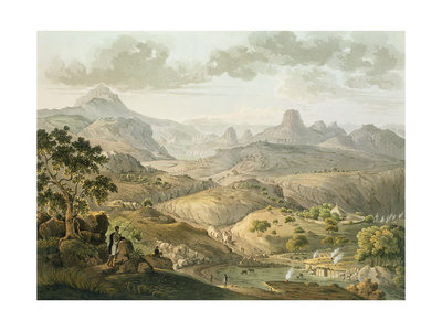 View Near the Village of Asceriah, in Abyssinia, Engraved by Daniel Havell (1785-1826) 1809 Giclee Print by Henry Salt