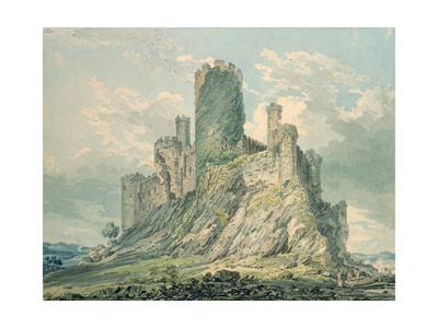 Conway Castle, 18th Century Giclee Print by Thomas Girtin
