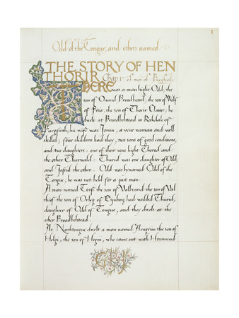 Ms 270* F.1R the Story of Hen Thorir, C.1873-4 Giclee Print by William Morris