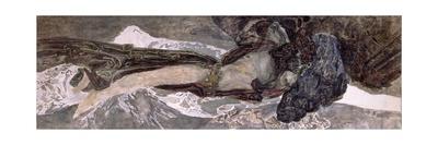 The Flying Demon, 1899 Giclée-Druck von Mikhail Aleksandrovich Vrubel
