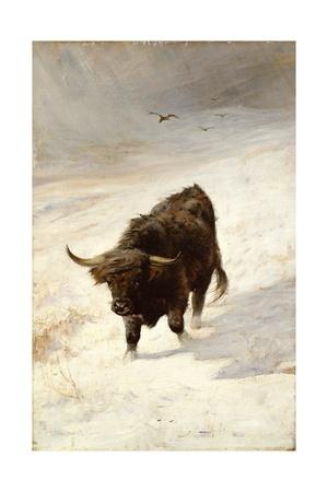 Black Beast Wanderer Giclee Print by Joseph Denovan Adam