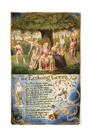 The Echoing Green: Plate 6 from 'Songs of Innocence and of Experience' C.1815-26 Giclee Print by William Blake