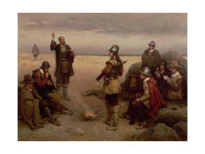 The Landing of the Pilgrim Fathers, 1620 Giclee Print by George Henry Boughton