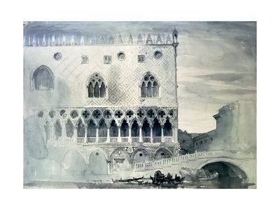 Exterior of Ducal Palace, Venice, 19th Century Giclee Print by John Ruskin