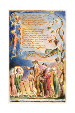 The Echoing Green (Cont.): Plate 7 from 'Songs of Innocence and of Experience' C.1815-26 Giclee Print by William Blake