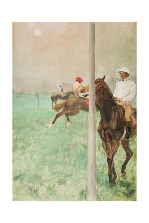 Jockeys before the Race, C.1878-79 Giclee Print by Edgar Degas