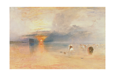 Calais Sands at Low Water, Poissards Gathering Bait, 1830 Giclee Print by J. M. W. Turner