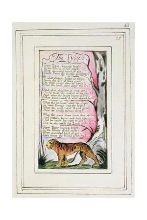 The Tyger: Plate 43 from 'Songs of Innocence and of Experience' C.1802-08 Giclee Print by William Blake