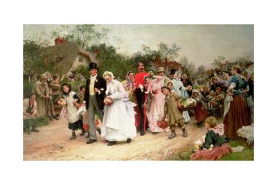 The Village Wedding, 1883 Giclee Print by Sir Samuel Luke Fildes