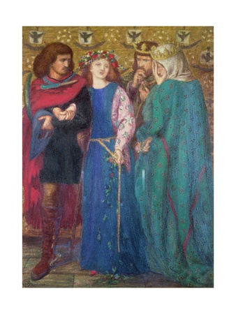 Horatio Discovering the Madness of Ophelia Giclee Print by Dante Gabriel Rossetti