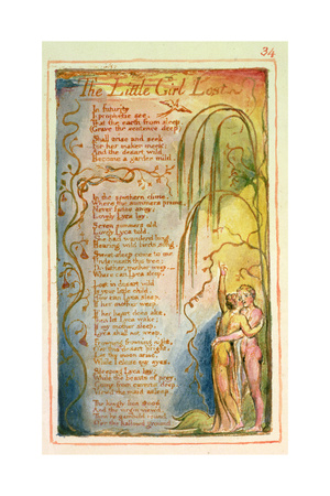 The Little Girl Lost: Plate 34 from Songs of Innocence and of Experience C.1815-26 Giclee Print by William Blake