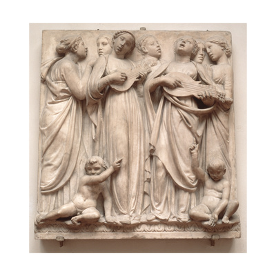 Singing Angels, Relief from the Cantoria, C.1432-38 Giclee Print by Luca Della Robbia