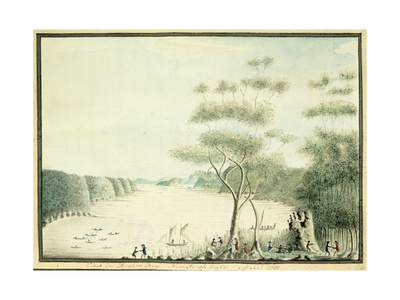 View in Broken Bay, New South Wales, 1788 Giclee Print by William Bradley