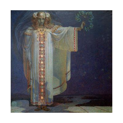The Prophetess Libuse, 1893 Giclee Print by Vitezlav Karel Masek
