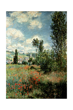 Path Through the Poppies, Ile Saint-Martin, Vetheuil, 1880 Giclee Print by Claude Monet