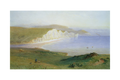 The Seven Sisters and the Mouth of the Cuckmere, 1881 Giclee Print by Henry George Hine