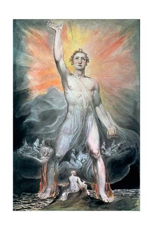 The Angel of Revelation, C.1805 Giclee Print by William Blake