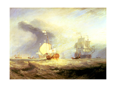 Admiral Von Trump's Barge at the Entrance of the Texel in 1645, C.1831 Giclee Print by J. M. W. Turner