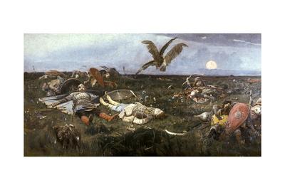 After the Battle Between Prince Igor Svyatoslavich of Kiev and the Polovtsy, 1880 Giclee Print by Victor Mikhailovich Vasnetsov