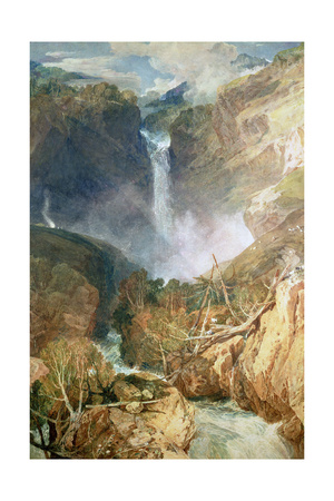 The Great Falls of the Reichenbach, 1804 Giclee Print by J. M. W. Turner