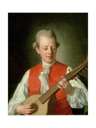 Portrait of the Poet Carl Mikael Bellman (1740-95) 1779 Giclee Print by Per Krafft