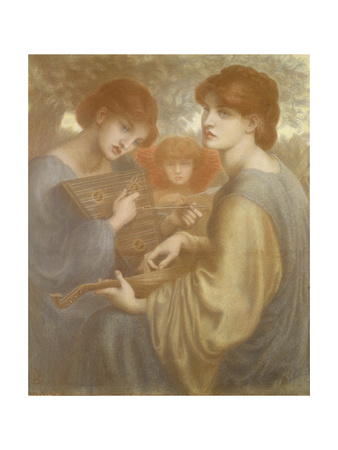 No. 1011 Study for 'The Bower Meadow', C.1872 Giclee Print by Dante Gabriel Rossetti