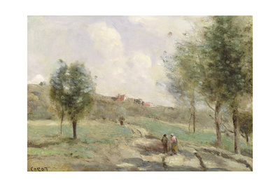Coubron: Ascending Path Giclee Print by Jean-Baptiste-Camille Corot