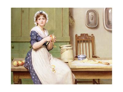 Apple Dumplings Giclee Print by George Dunlop Leslie