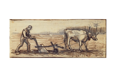 At the Plough, from a Series of Four Drawings Representing the Four Seasons Giclee Print by Vincent van Gogh