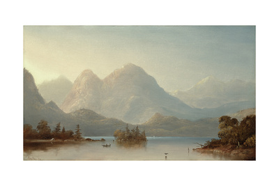 A View on the Columbia River, Oregon, 1871 Giclee Print by Norton Bush