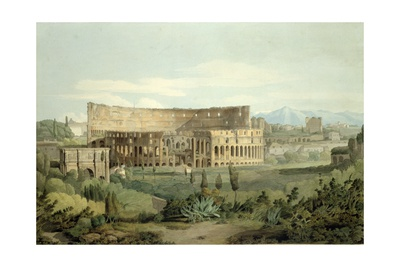 The Colosseum from the Caelian Hills, 1799 Giclee Print by Francis Towne