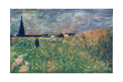 Fields in Summer Giclee Print by Georges Seurat