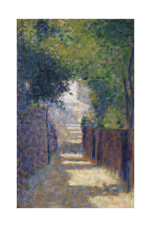 Rue St. Vincent in Spring, C.1884 Giclee Print by Georges Seurat