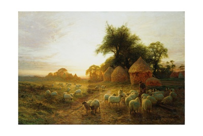 Yon Yellow Sunset Dying in the West Giclee Print by Joseph Farquharson