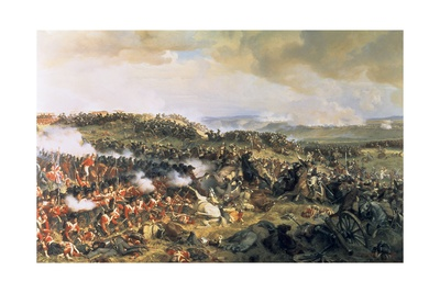Cuirassiers Charging the Highlanders at the Battle of Waterloo on 18th June 1815, 1874 Giclee Print by Felix Philippoteaux