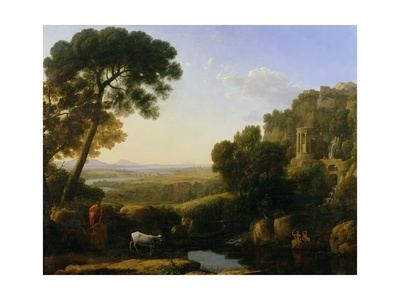 A Sunset or Landscape with Argus Guarding Io Giclee Print by Claude Lorrain