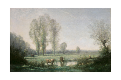 Morning Mist, 1860 Giclee Print by Jean-Baptiste-Camille Corot