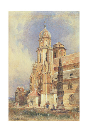 Abbey Church of Klosterneuburg, 1844 Giclee Print by Rudolph von Alt