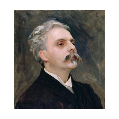 Portrait of Gabriel Faure (1845-1924) Giclee Print by John Singer Sargent