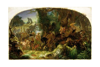 The Fairy Raid: Carrying Off a Changeling - Midsummer Eve, 1867 Lámina giclée por Sir Joseph Noel Paton