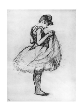 Dancer Adjusting Her Costume and Hitching Up Her Skirt, 1889 Giclee Print by Henri de Toulouse-Lautrec