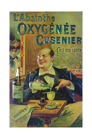 Poster Advertising 'Oxygenee Cusenier Absinthe' Giclee Print by Francisco Tamagno