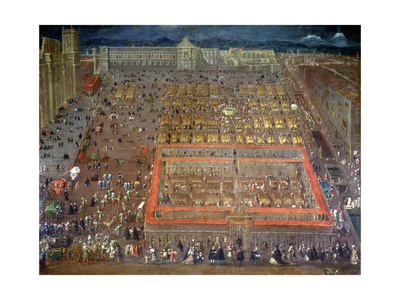 Central Square of Mexico City, 1695 Giclee Print by Cristobal de Villalpando