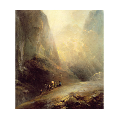 Mountain Landscape with Banditti, C.1780 Giclee Print by Elias Martin