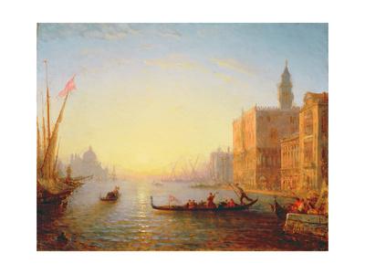 Venice, Evening Giclee Print by Felix Ziem
