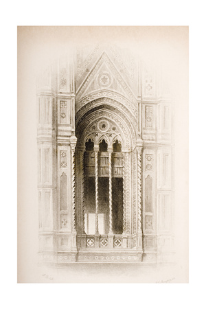 Tracery from the Campanile of Giotto, Florence, from 'The Seven Lamps of Architecture' by John… Giclee Print by John Ruskin