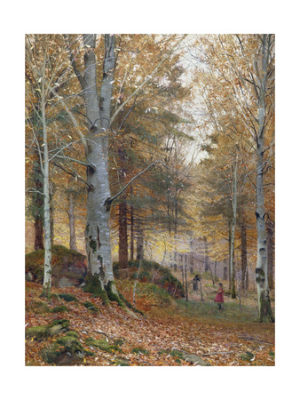 Autumn in the Woods Giclee Print by James Thomas Watts