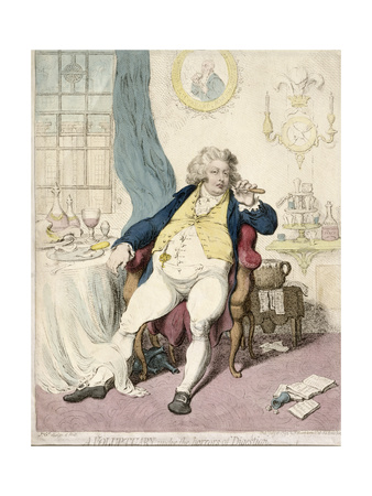 A Voluptuary under the Horrors of Digestion, Published by Hannah Humphrey in 1792 Giclee Print by James Gillray