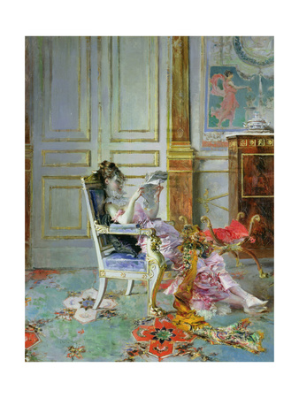 Girl Reading in a Salon, 1876 Giclee Print by Giovanni Boldini